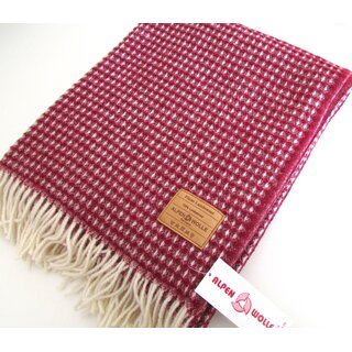 Wollplaid Elegance bordeaux100% Lammwolle, 140x200