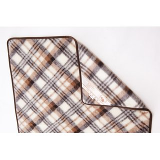 Wolldecke Plaid Karo KINDER 100% Wolle